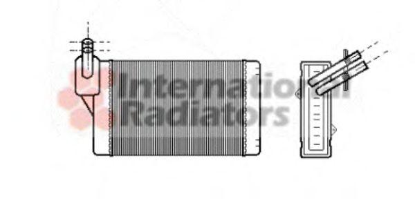 Теплообменник, отопление салона VANWEZEL арт. 58006060