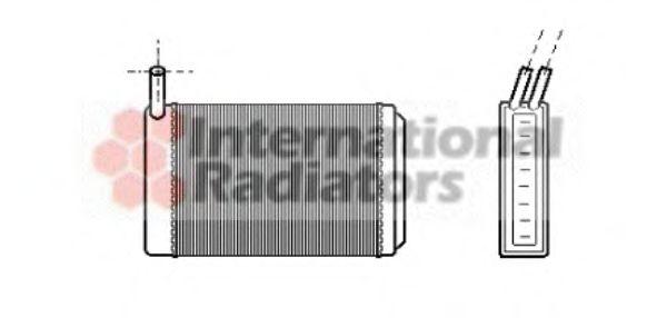 Теплообменник, отопление салона VANWEZEL арт. 58006061