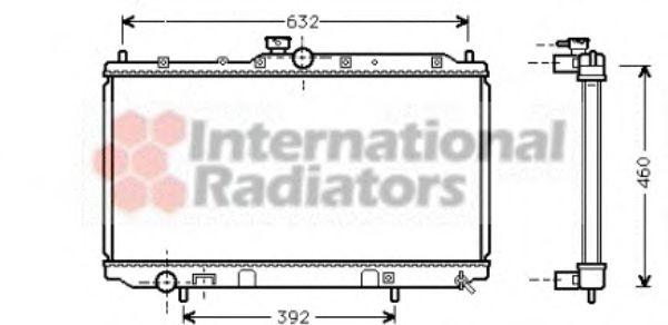 Радиатор, охлаждение двигателя VANWEZEL арт. 32002142