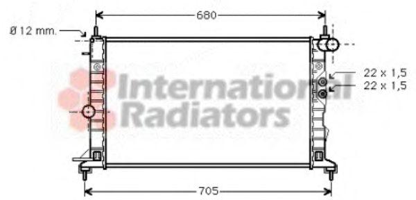 Радиатор, охлаждение двигателя VANWEZEL арт. 37002244