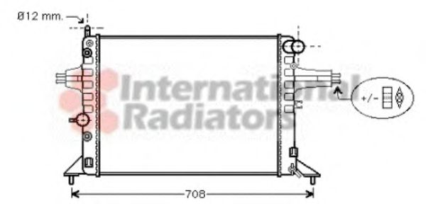Радиатор, охлаждение двигателя VANWEZEL арт. 37002256