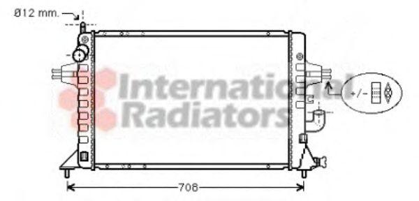 Радиатор, охлаждение двигателя VANWEZEL арт. 37002294