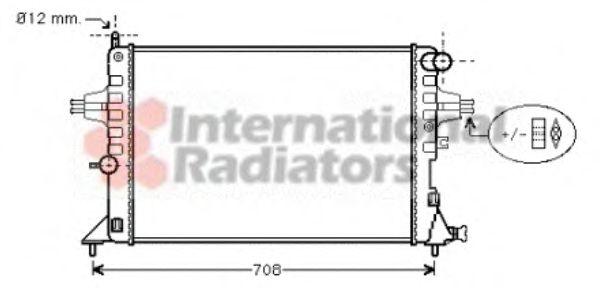 Радиатор, охлаждение двигателя VANWEZEL арт. 37002296
