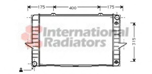 Радиатор, охлаждение двигателя VANWEZEL арт.