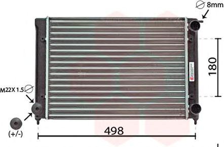 Радиатор, охлаждение двигателя VANWEZEL арт. 58002040