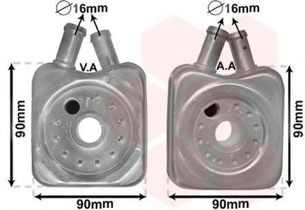 масляный радиатор, двигательное масло VANWEZEL арт.