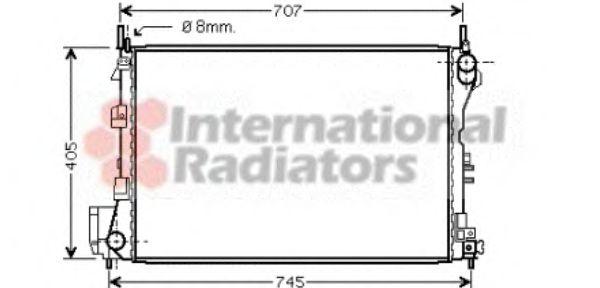 Радиатор, охлаждение двигателя VANWEZEL арт. 37002340