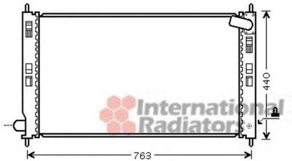 Радиатор, охлаждение двигателя VANWEZEL арт. 32002201