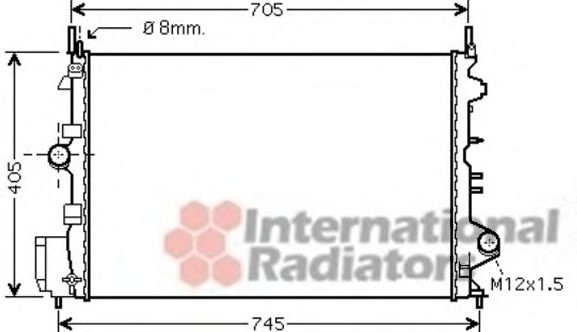 Радиатор, охлаждение двигателя VANWEZEL арт. 37002462