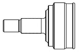 Шарнирный комплект, приводной вал GSP арт.