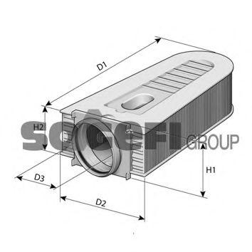 Воздушный фильтр PURFLUX арт. A1384