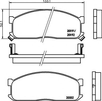Комплект тормозных колодок, дисковый тормоз TEXTAR арт. 2000201