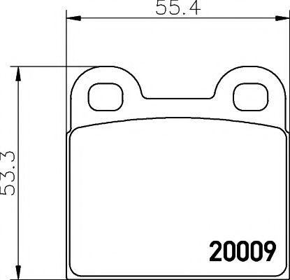 Комплект тормозных колодок, дисковый тормоз TEXTAR арт. 2000906
