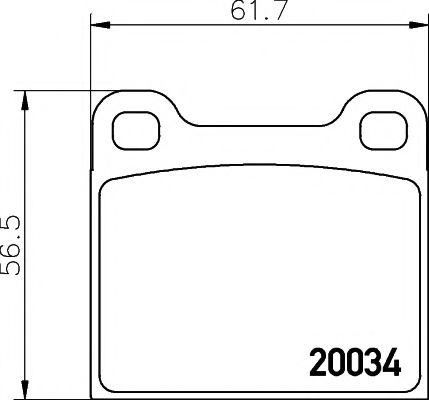 Комплект тормозных колодок, дисковый тормоз TEXTAR арт. 2003402