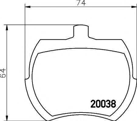 Комплект тормозных колодок, дисковый тормоз TEXTAR арт. 2003801