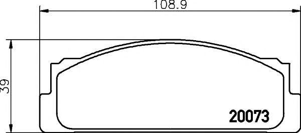 Комплект тормозных колодок, дисковый тормоз TEXTAR арт. 2007304