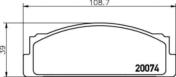 Комплект тормозных колодок, дисковый тормоз TEXTAR арт. 2007404