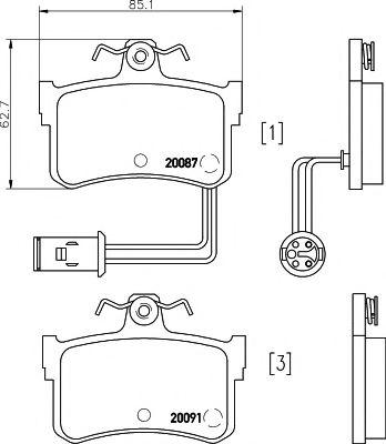 Комплект тормозных колодок, дисковый тормоз TEXTAR арт. 2008701