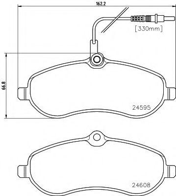 Комплект тормозных колодок, дисковый тормоз TEXTAR арт. 2459501