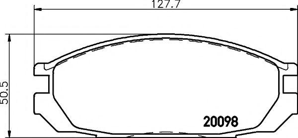 Комплект тормозных колодок, дисковый тормоз TEXTAR арт. 2009801