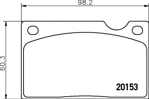 Комплект тормозных колодок, дисковый тормоз TEXTAR арт. 2015302