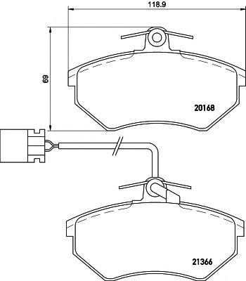 Комплект тормозных колодок, дисковый тормоз TEXTAR арт. 2016805