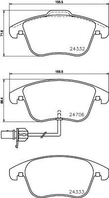 Комплект тормозных колодок, дисковый тормоз TEXTAR арт. 2470601