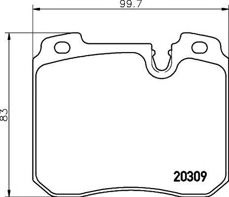 Комплект тормозных колодок, дисковый тормоз TEXTAR арт. 2030907