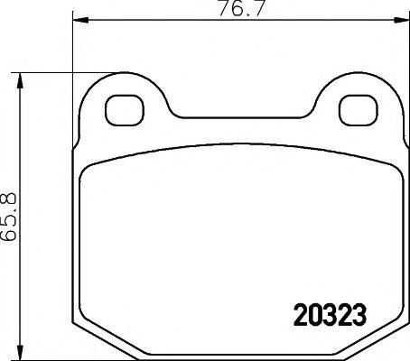 Комплект тормозных колодок, дисковый тормоз TEXTAR арт. 2032303