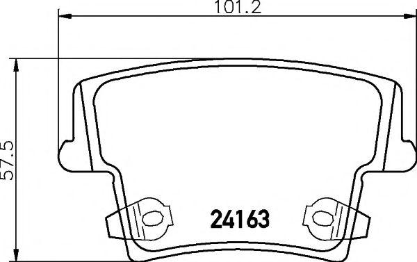 Комплект тормозных колодок, дисковый тормоз TEXTAR арт. 2416301