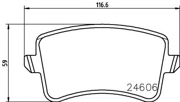 Комплект тормозных колодок, дисковый тормоз TEXTAR арт. 2460601
