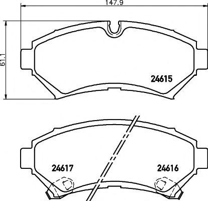 Комплект тормозных колодок, дисковый тормоз TEXTAR арт. 2461501