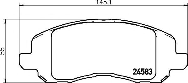 Комплект тормозных колодок, дисковый тормоз TEXTAR арт. 2458301