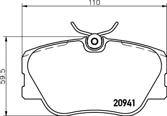 Комплект тормозных колодок, дисковый тормоз TEXTAR арт. 2094102