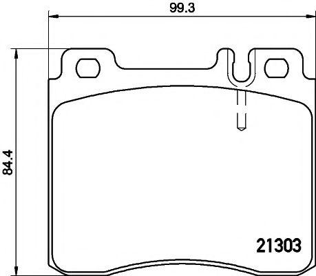 Комплект тормозных колодок, дисковый тормоз TEXTAR арт. 2130304
