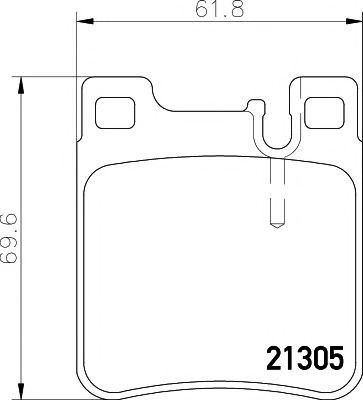Комплект тормозных колодок, дисковый тормоз TEXTAR арт. 2130504