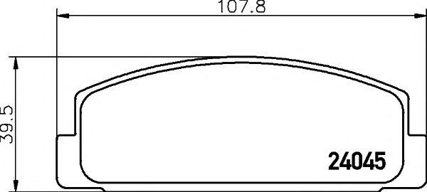Комплект тормозных колодок, дисковый тормоз TEXTAR арт. 2404501