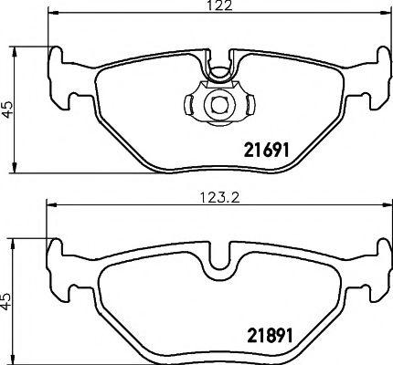 Комплект тормозных колодок, дисковый тормоз TEXTAR арт. 2169103