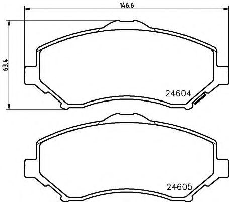 Комплект тормозных колодок, дисковый тормоз TEXTAR арт. 2460402