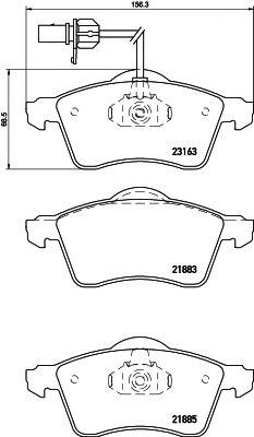 Комплект тормозных колодок, дисковый тормоз TEXTAR арт. 2188501