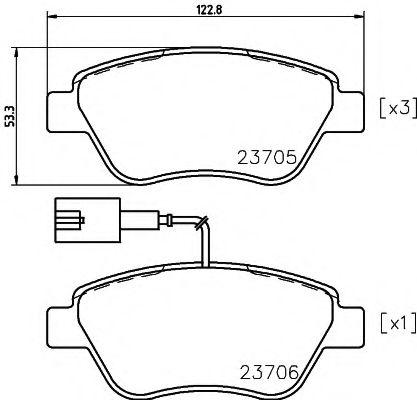 Комплект тормозных колодок, дисковый тормоз TEXTAR арт. 2370502