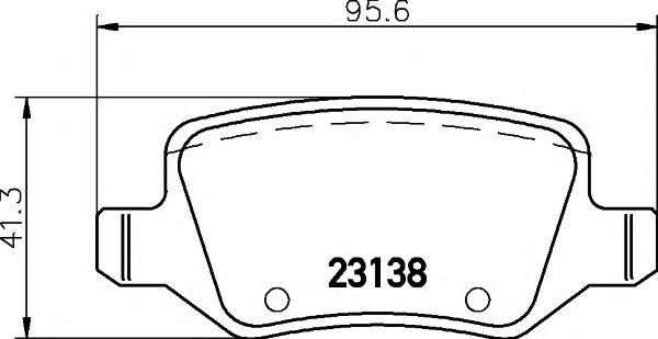 Комплект тормозных колодок, дисковый тормоз TEXTAR арт. 2313805