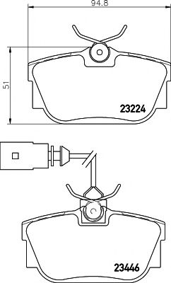 Комплект тормозных колодок, дисковый тормоз TEXTAR арт. 2322416