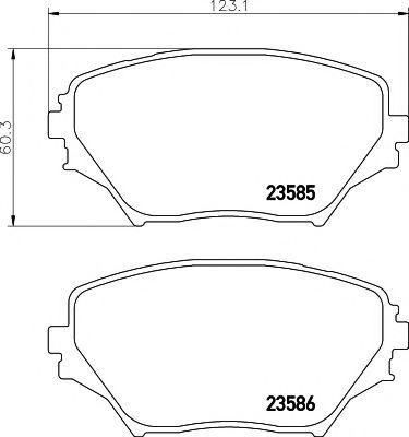 Комплект тормозных колодок, дисковый тормоз TEXTAR арт. 2358501