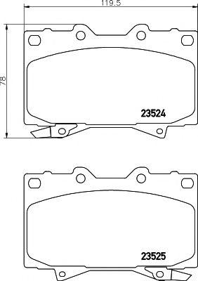 Комплект тормозных колодок, дисковый тормоз TEXTAR арт.