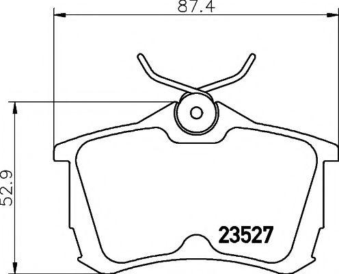 Комплект тормозных колодок, дисковый тормоз TEXTAR арт. 2352701