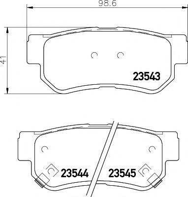 Комплект тормозных колодок, дисковый тормоз TEXTAR арт. 2354301