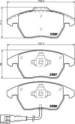 Комплект тормозных колодок, дисковый тормоз TEXTAR арт. 2358701