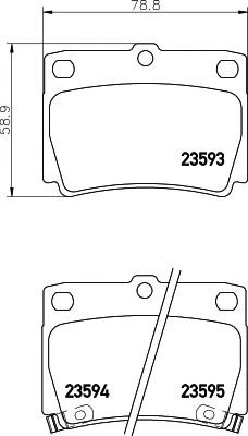 Комплект тормозных колодок, дисковый тормоз TEXTAR арт. 2359301
