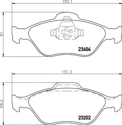 Комплект тормозных колодок, дисковый тормоз TEXTAR арт. 2360406